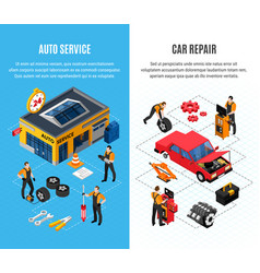 car service vertical banners set vector image