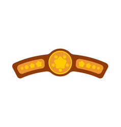 Champion belt award for winning boxing tournament vector