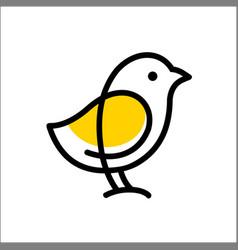 Chicks logo icon template monoline color line vector