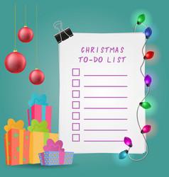christmas to-do list vector image