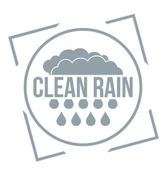 Clean rain logo simple gray style vector