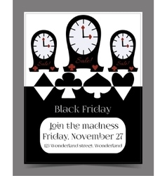 Clocks banner card brochure vector
