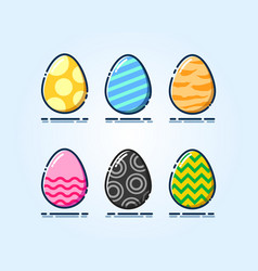 Colorful collection digimon eggs vector