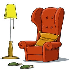 cozy armchair vector image