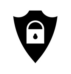 cyber security icon shield icon vector image