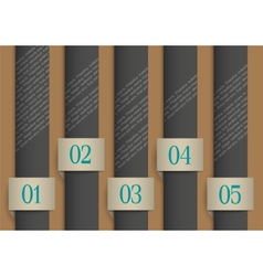 Dark paper numbered banners vector image
