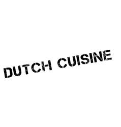 Dutch Cuisine rubber stamp vector