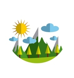 ecology landscape nature icon vector image