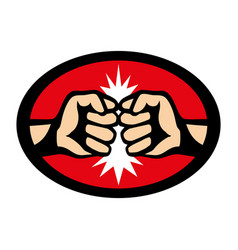 fight sign with two fists vector image