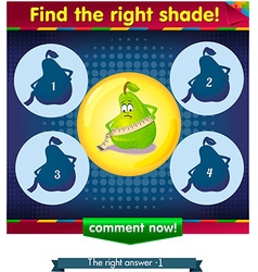 Find the right shade pear vector