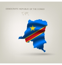 flag republic congo as a country vector image