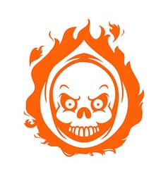 Flaming Reaper Head vector