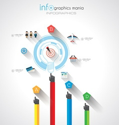 Flat UI design concepts for unique infographics vector image