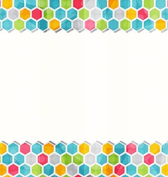 Geometric colored seamless border pattern vector