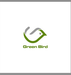 green bird logo vector image