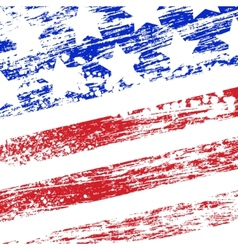 Grunge USA flag vector image
