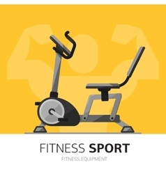 Gym equipment concept Exercise Bike icon vector