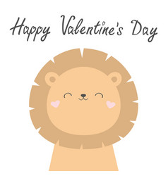 happy valentines day koala bear face head cute vector image