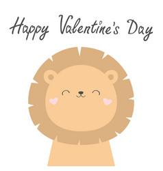 Happy valentines day koala bear face head cute vector