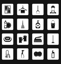 house cleaning icons set squares vector image