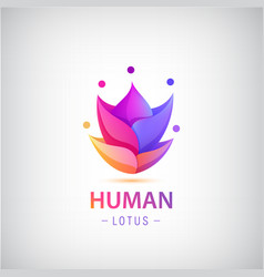 human men logo people group 5 in shape vector image