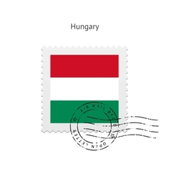 Hungary Flag Postage Stamp vector