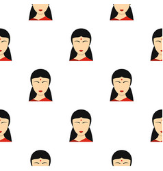 indian girl pattern seamless vector image