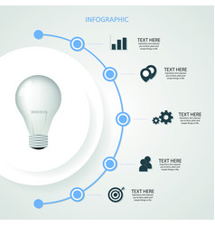 infographic bulb business design pattern graphic vector image