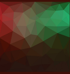 Light green red triangle mosaic background a vector
