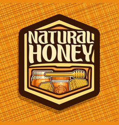 Logo for natural honey vector