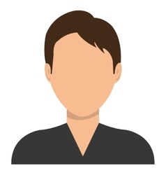Male profile avatar with brown hair vector