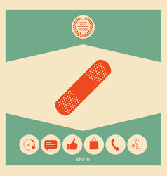Medical plaster adhesive bandage icon vector