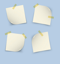 Notes paper set vector