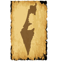 Old israel map vector