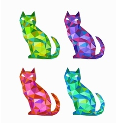 Polygonal cats vector