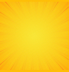 Pop art background pattern yellow colored comic vector