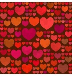 Retro Valentines Day seamless pattern with hearts vector image