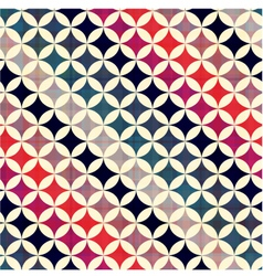 seamless geometric circles pattern vector image
