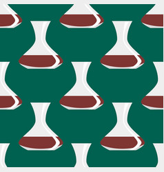 seamless pattern with antique vases background vector image