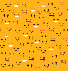 Seamless pattern with emotions vector