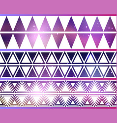 set of cosmic geometric seamless borders vector image
