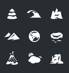 set of enviroment icons vector image