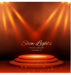 Show spot lights with podium background vector