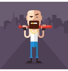 Skinhead character vector image