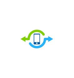 smartphone share logo icon design vector image