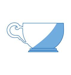 Tea cup isolated vector