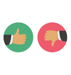thumbs up thumbs down vector image