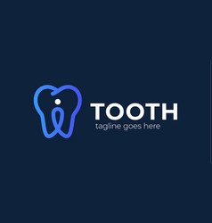 tooth pin logo trend modern logotype or graphic vector image