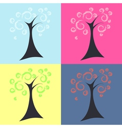 Trees four seasons vector image