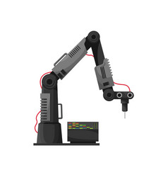 Welding technology automation robot arm vector